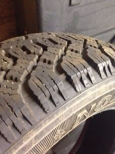 Goodyear Nordic Snow tires 205 55 15 NEW! Only 100 km! Regina Regina Area image 2