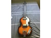 East coast 4 String Violin Shaped Bass Guitar in Sunburst - Based on Sir Paul McCartney Hofner Viola