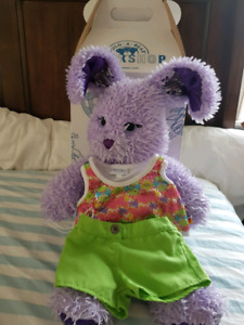 Build a bear: rocky bunny with clothes