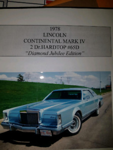 1978 Lincoln Continental Mark V Diamond Jubilee edition