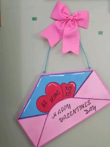 Valentine wall/door hanger.