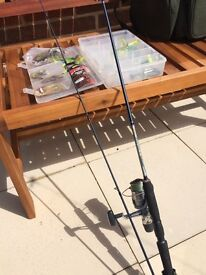 Drop shot rod and reel and bits