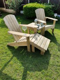 Garden loungers/Adirondack chairs