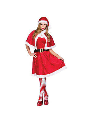 Adult Little Miss Santa Outfit Fancy Dress Costume Sexy Christmas Xmas - Little Miss Santa Outfit