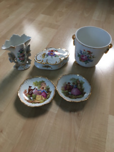 Vintage China pieces (5), Limoges and German