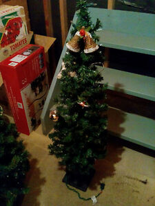 NOMA Set of 2 , 4' Indoor/ Outdoor Lighted Porch Christmas Trees