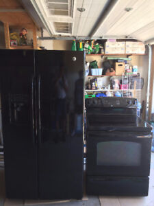 Black Stove and Fridge for sale - Spruce Grove