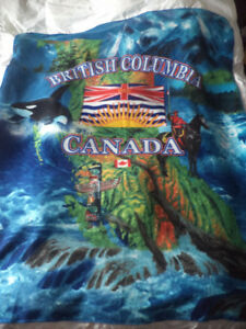 Fleece blankets B.C. Canada 60 by 48 inches