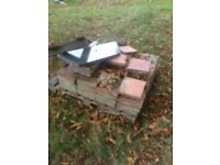 """Approx 100 quarry tiles 9"""" X 9"""" X 1 1/4"""" thick"""