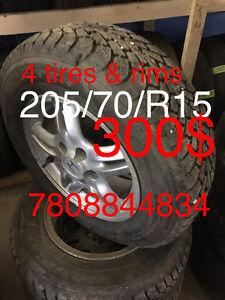 Winter tires used 4 for Honda CR-V  300$ Edmonton Edmonton Area image 1