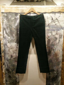 NWT Polo Ralph Lauren Made in Italy Green Corduroy Pants