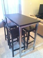 High table and 4 stools