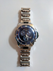 Kenneth Cole (Carbon Fiber) Swiss Chronograph Watch MSRP $625