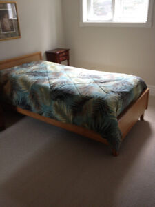 Single Bed with Like-New Mattress and Box Spring