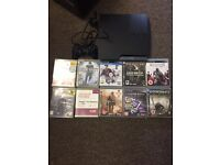 320gb PlayStation 3 Slim with 10 games