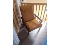 Retro industrial style armchair x2 (pair) 60s 70s