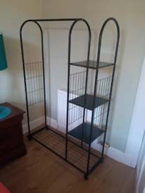 Metal storage unit rail £5
