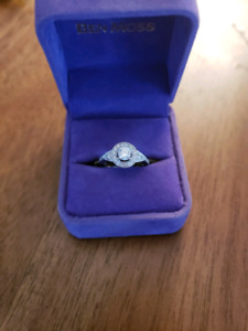 Vintage inspired engagement ring 1.14TCW