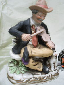porcelain Man Playing fiddle 1/2 PRICE $5.00