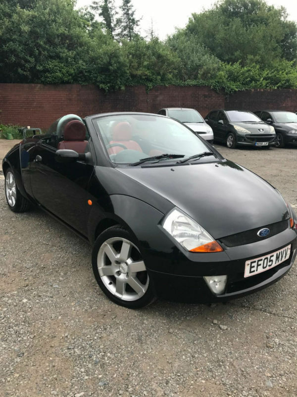 2005 ford street ka convertible 1 6 57k red leather seats new m o t in swansea gumtree. Black Bedroom Furniture Sets. Home Design Ideas