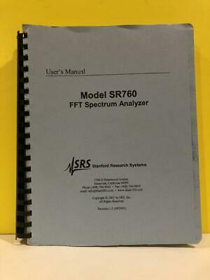 Srs Model Sr760 Fft Spectrum Analyzer Users Manual