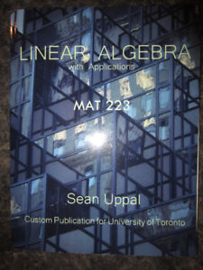LINEAR ALGEBRA WITH APPLICATIONS MAT223 SEAN UPPAL