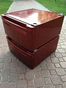 Two Red LG 27 inch Pedestals for Washer and Dryer Windsor Region Ontario image 3