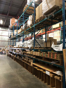 WAREHOUSE RACKING, PICKING CARTS, PUMP TRUCKS FOR SALE