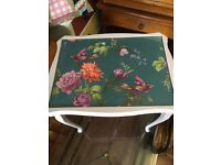 Shabby chic decoupage occasional table
