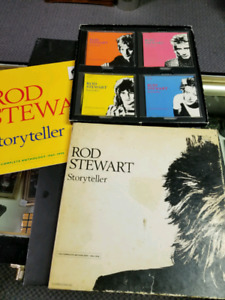 Rod Stewart Story Teller collectors edition 4 cd's-book- cover