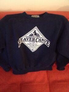 Retro vintage beaver canoe sweatshirt