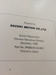 1981 Suzuki Factory DS80 Service Manual Regina Regina Area image 3