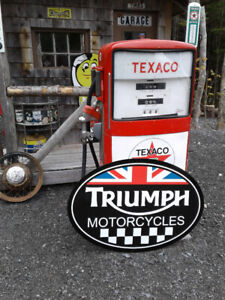 MOTORCYCLE SIGNS AND COLLECTIBLES