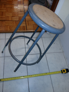 Stool, strong and durable, might be for industrial application.