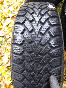 winter tires Goodyear 215/60r16 on Nissan rims