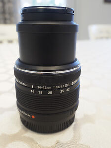 OLYMPUS 14-42MM II R LENS BLACK M-4/3