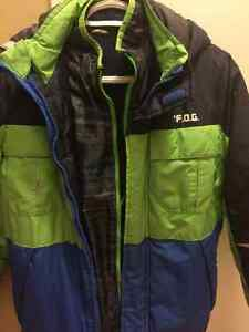 Boy's size 12 winter suit and leather jacket London Ontario image 3