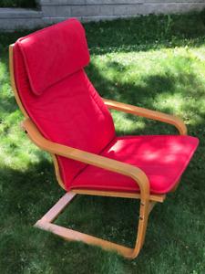 POÄNG Armchair From Ikea - Birch - Red Cushion - $50 OBO