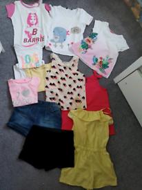 Girls 5/6 age Barbie ,Next , TU , Jump suit FREE Hoodie