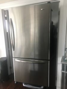 AMANA  33 inch R/H door stainless steel fridge