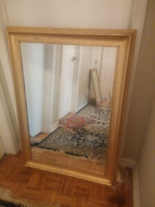 "LARGE 30.5""X42.5"" BEAUTIFUL GOLD MIRROR FOR $50"