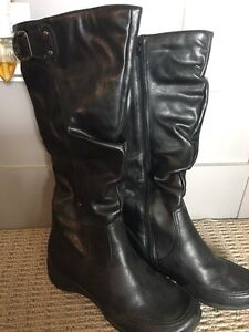 Hush Puppies Tall Black Boots - wide calf - Size 7.5
