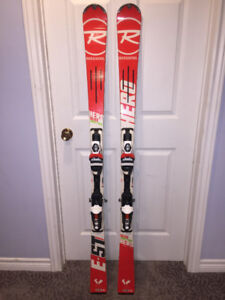 Gently used dowhill ladies' skis
