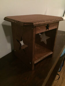 Small primitive side table