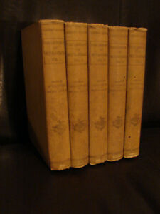 ANTIQUE 1897 The Library of Wit & Humor 5 volume set RARE