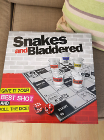 Snakes and bladdered board game.
