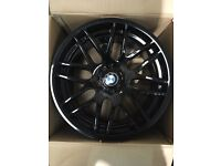 "Set of 19"" black DTM Alloy Wheels BMW ."