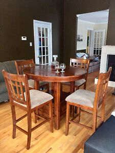Was $2499 new - beautiful walnut bistro table with leaf