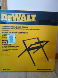 (Brand New) DeWalt compact table saw stand