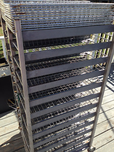 Stainless steel double bakery rack - with 48 baskets